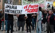 12 DE DICIEMBRE. Imagen de la primera marcha contra la corrupción. La pancarta hace alusión a Maria Ant__nia Munar, de UM.