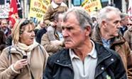 Manifestación el 1 de abril contra las políticas del Gobierno. Foto: William Murphy