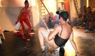 O que pode un corpo... Foto: Performance de Diana Pornoterrorista.