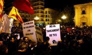 Movilización en Valencia a favor da TV autonómica catalá Foto: Pau Orts.