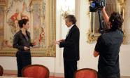 El polemista neoconservador francés Bernard Henri Levi.  y Foto: Assemblée nationale