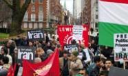 LONDRES. Manifestación de iraníes y británicos contra la intervención militar. Victor_Olmos