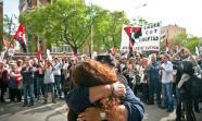 LIBRE AL FIN. Laura Gómez el 17 de mayo al salir de prisión. / Foto: Ramón Fornell.
