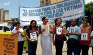 Acción de protesta contra la violencia policial en Caracas. Foto: Red de Apoyo por la Justicia y la Paz.