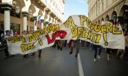 Manifestación de estudiantes en Turín el 6 de septiembre. Foto: Mirko Isaia