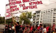 Manifestación en Grecia contra el rescate financiero.