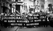 Manifestación el 15 de mayo en Albacete a favor de Democracia Real Ya. Foto: David Flores.