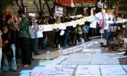 Momento de la concentración en Plaza Catalunya. Vicent Canet