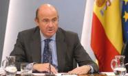 El ministro de Economía, Luis de Guindos, en la rueda de prensa donde ha anunciado las previsiones económicas para 2012. Foto: La Moncloa
