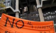 Protesta delante del ministerio en Madrid