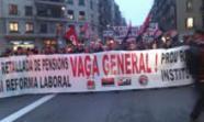 Manifestacion contra la reforma de las pensiones en Barcelona. Foto Pau Claris.