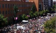 La columna suroeste-oeste, minutos antes de entrar en la glorieta de Atocha. Foto: @anderinaki