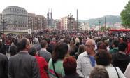 Miles de personas acudieron a la concentración de Bilbao Foto: JoséDavid Carracedo