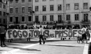 LISBOA. Una reciente protesta contra el sistema penitenciario en una plaza de la capital.