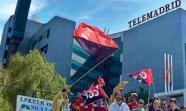TELEMADRID. Protestas de trabajadores. Foto: Rojoynegro.