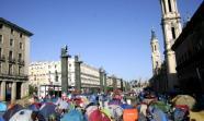 Acampada en la Plaza del Pilar de Zaragoza / Diagonal Aragón